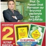 Akşam Gazetesinden Ramazan Hediyesi – 15 Kupona 2 Kitap