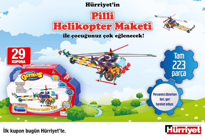 hürriyet pilli helikopter seti