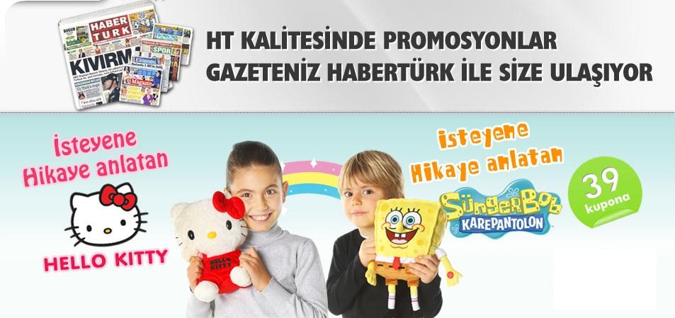haber türk sünger bob ve hello kity kampanya